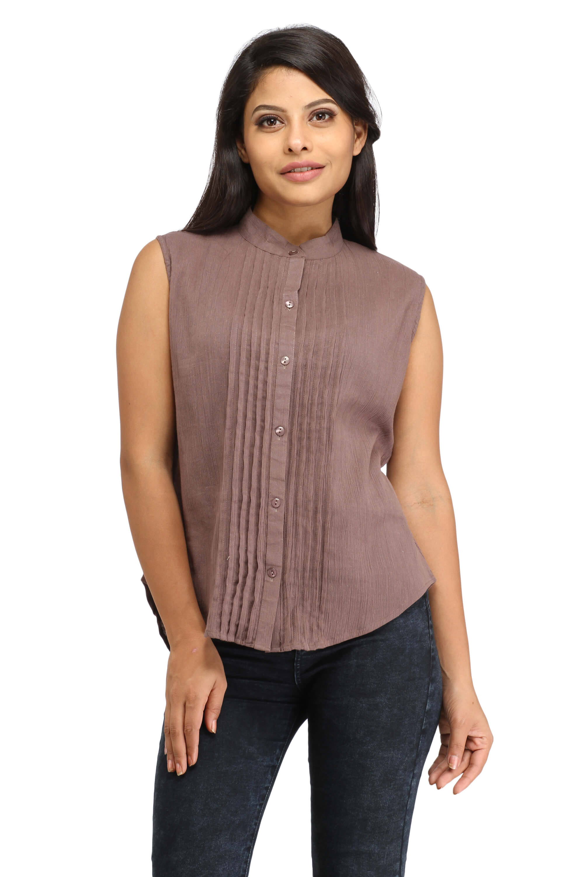 1974a411076854 Brown Solid Color Top – Zubix   Clothing